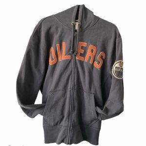 Vintage Oilers Hockey NFL Hoodie navy M